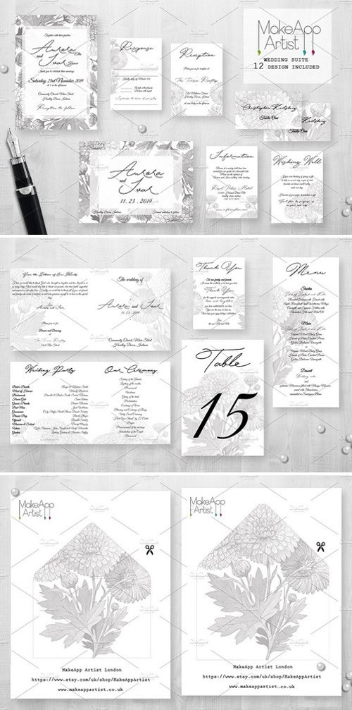 Wedding Invitation Suite - Aurora 1956616