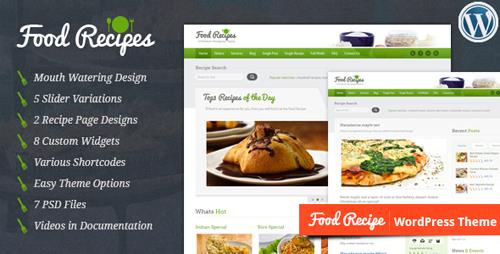 ThemeForest - Food Recipes v3.0 - WordPress Theme - 1923882