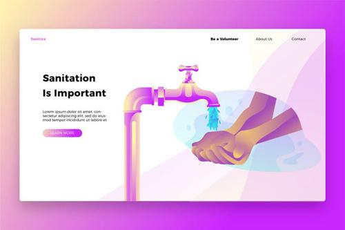 Sanitation - Banner & Landing Page
