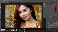 Обработка и тонирование осенних фото. Портретная ретушь (2017)