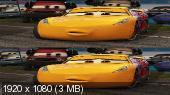 Без черных полос (На весь экран) Тачки 3 3D / Cars 3 3D Вертикальная анаморфная стереопара