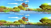 Корабль сокровищ 3D / Janosch: Komm, wir finden einen Schatz 3D  Вертикальная анаморфная стереопара