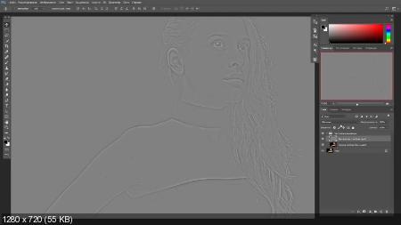 Полная ретушь в фотошопе с нуля (2017) HDRip