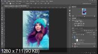 Обработка зимних фото в фотошоп (2018)