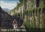 Коллаж Девушка у старого замка