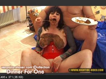 Hightide Scat (Veronica Moser, 1 male) VM41 - DINNER FOR ONE [SD] Humiliation, Milf, Blowjob