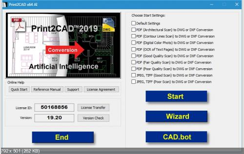 BackToCAD Technologies Print2CAD 2019 19.20