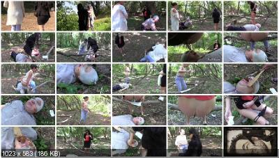 MilanaSmelly - Dangerous and terrible forest [Femdom Scat / 884 MB] HD 720p (Scat Porn, Humiliation)